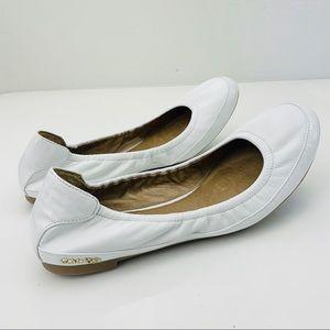 Calvin Klein white leather ballet flat 9.5